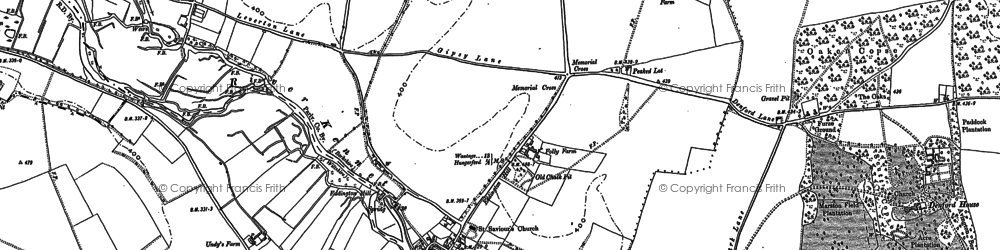 Old map of Eddington in 1899