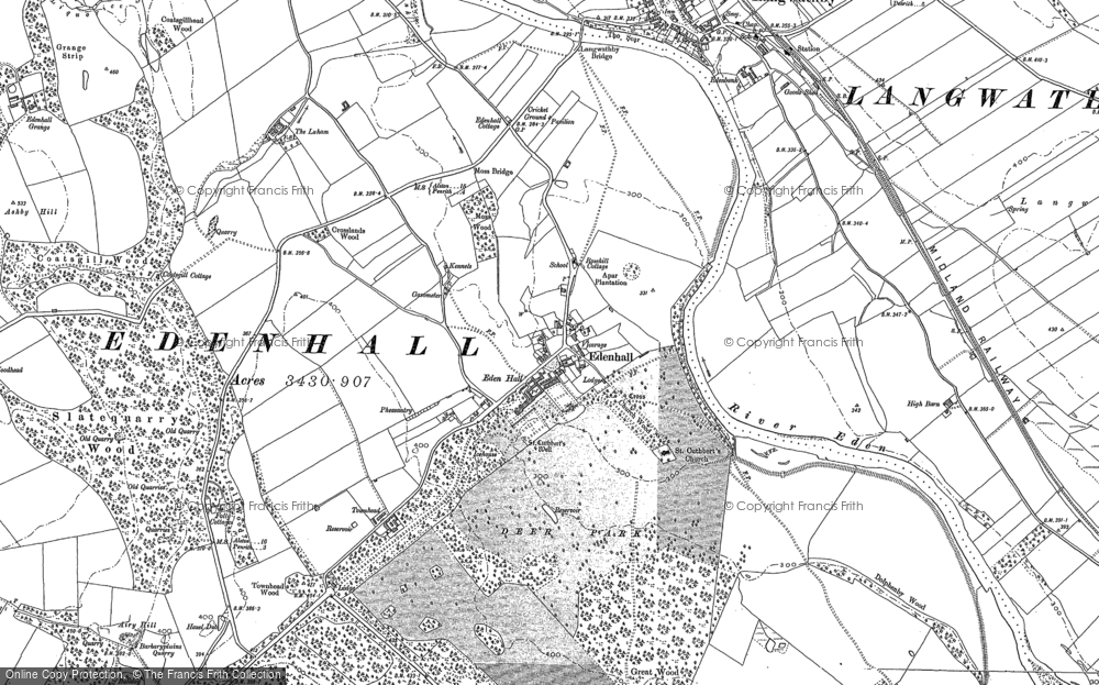Old Map of Historic Map covering Whinsfield in 1898