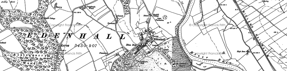 Old map of Whinsfield in 1898