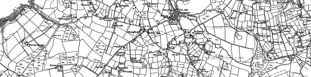 Old map of Edern in 1899