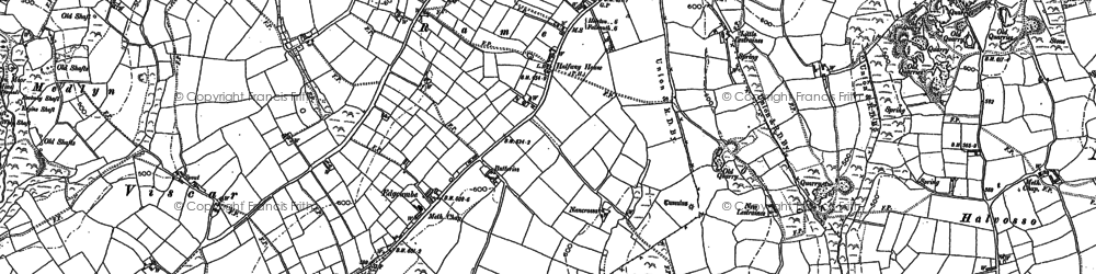 Old map of Edgcumbe in 1884