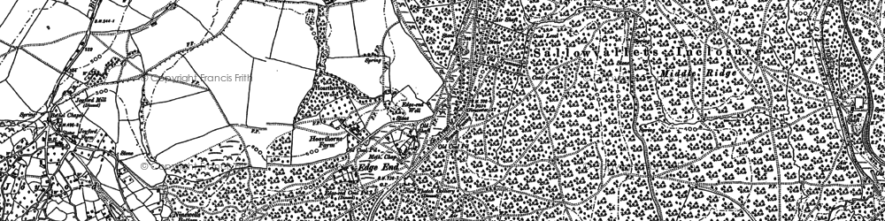 Old map of Wimberry Slade in 1900