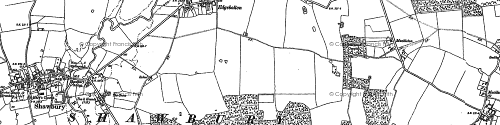 Old map of Wytheford Wood in 1880