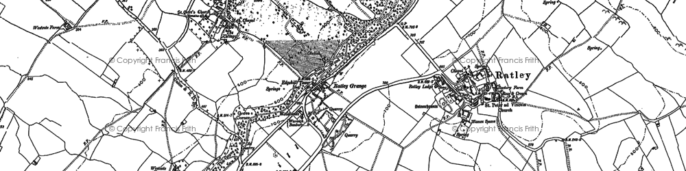 Old map of Edgehill in 1885
