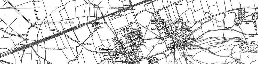 Old map of Edington in 1899