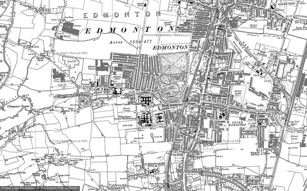 Map of Edmonton, 1894 - 1914