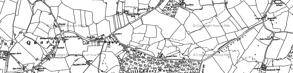 Old map of Wyse's Cottage in 1895