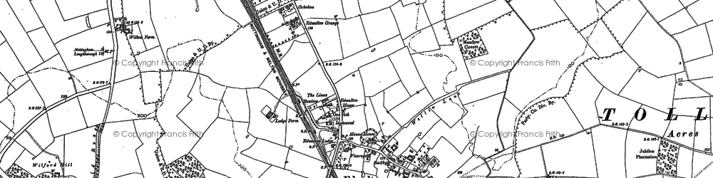 Old map of Wilford Hill in 1883
