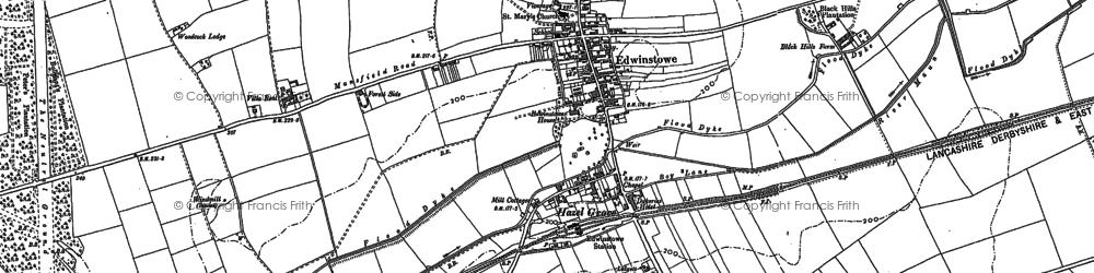 Old map of Edwinstowe in 1883