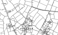 Old Map of Edworth, 1882 - 1900