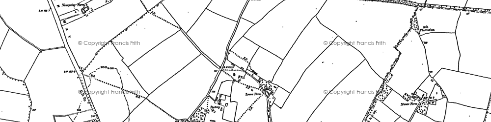Old map of Edworth in 1882