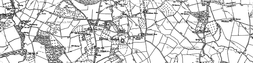Old map of Winslow Grange in 1885