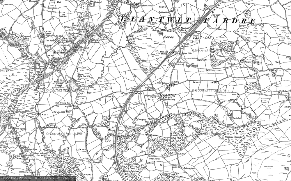 Old Map of Efail Isaf, 1897 - 1898 in 1897