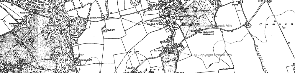 Old map of Effingham in 1894