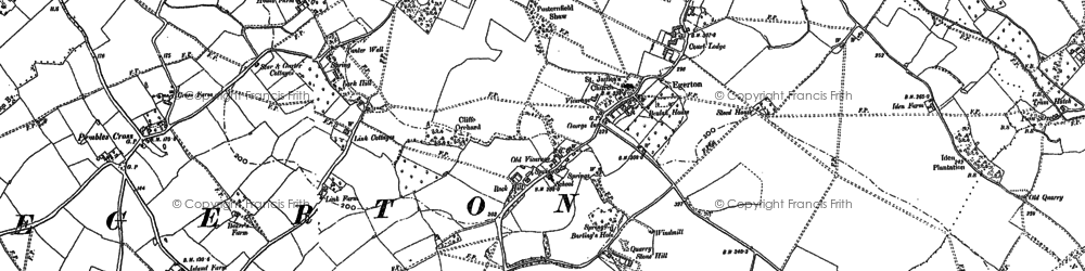 Old map of Link House in 1896