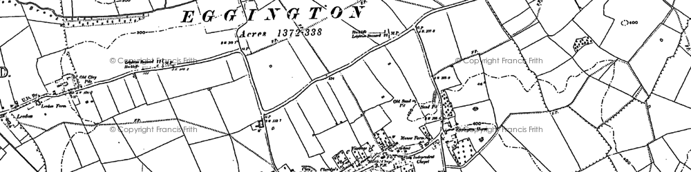 Old map of Eggington in 1900