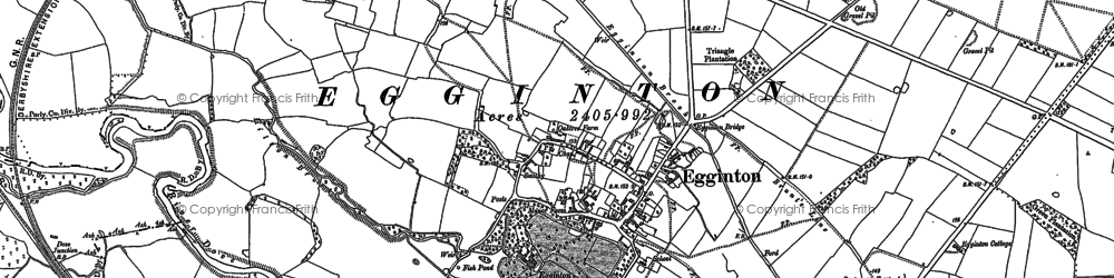 Old map of Egginton in 1881
