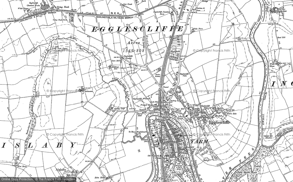 Old Map of Historic Map covering Allens West Sta in 1913
