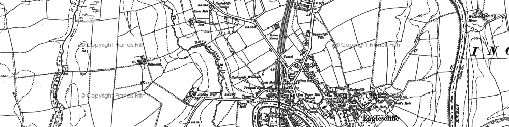 Old map of Allens West Sta in 1913