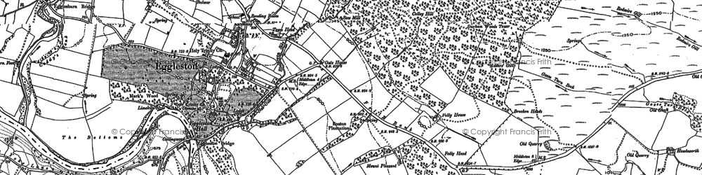 Old map of Eggleston in 1896