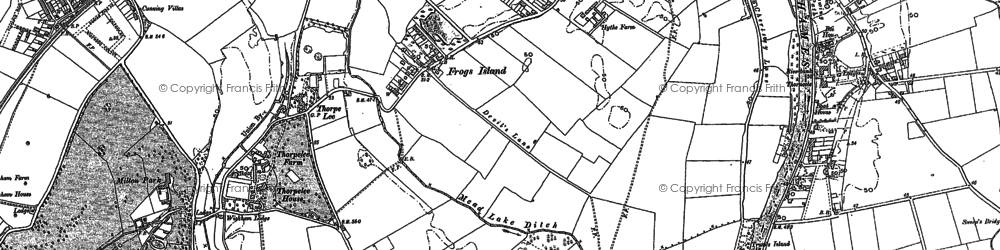 Old map of Thorpe Lea in 1894
