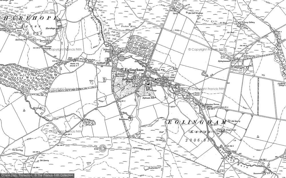 Old Map of Historic Map covering Tick Law in 1896