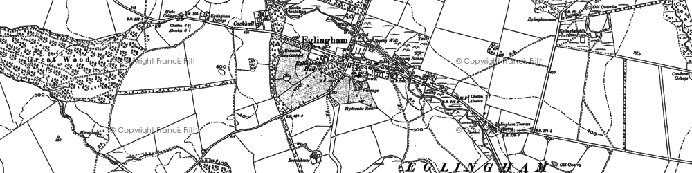 Old map of Bannamoor in 1896