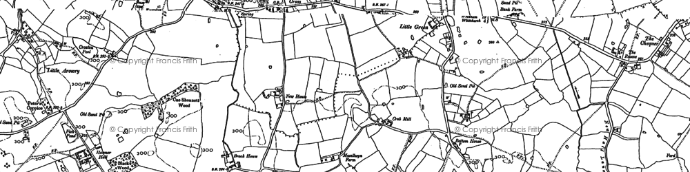 Old map of Yew Tree in 1909