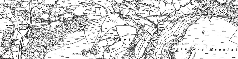 Old map of Eglwyseg in 1898