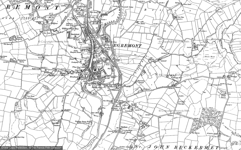 Old Map of Egremont, 1923 in 1923
