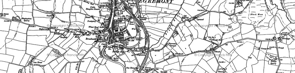 Old map of Egremont in 1923