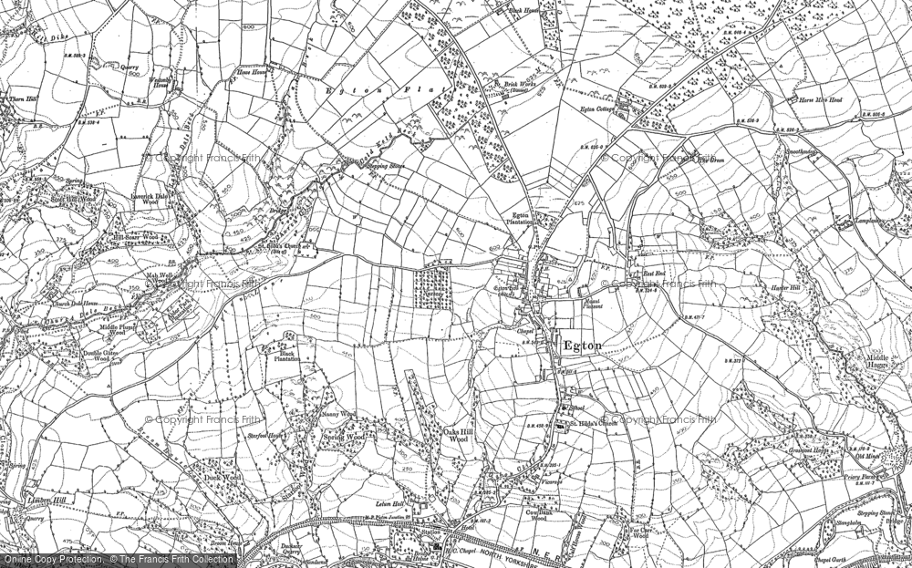 Old Map of Egton, 1892 - 1893 in 1892