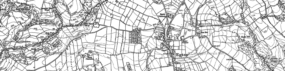 Old map of Egton in 1892