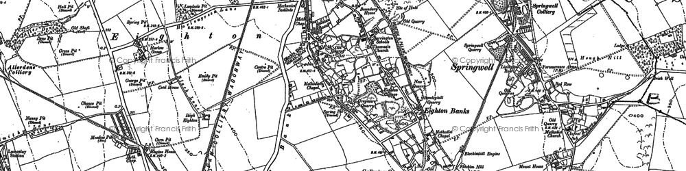 Old map of Eighton Banks in 1895