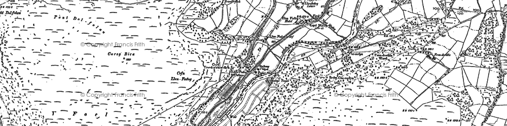 Old map of Y Glog Fawr in 1902