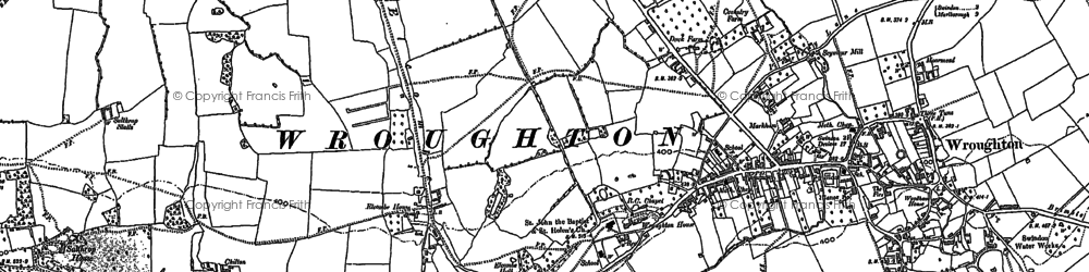 Old map of Elcombe in 1899