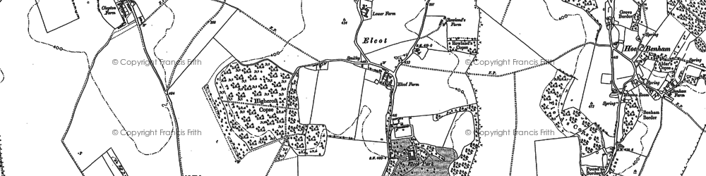 Old map of Clapton in 1898