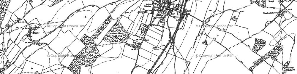 Old map of Elham in 1896