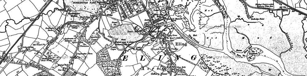Old map of Tide Mill in 1895