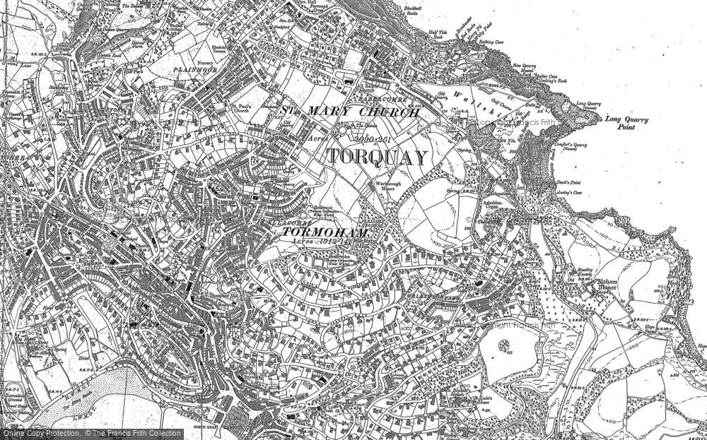 Old Map of Historic Map covering Lead Stone in 1904