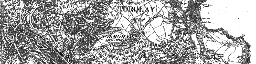 Old map of Lead Stone in 1904