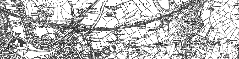 Old map of Elland in 1892