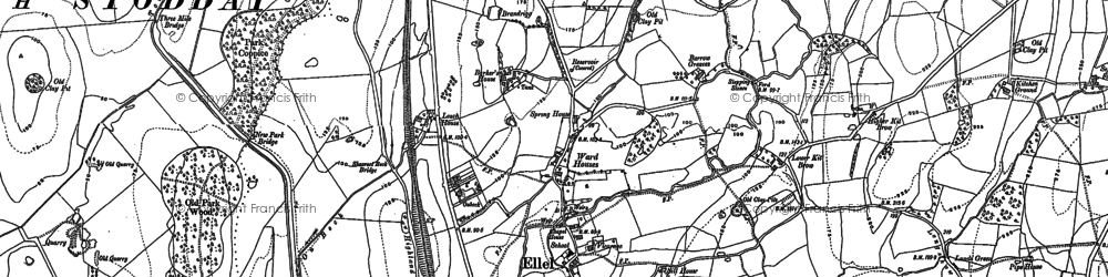Old map of Banton Ho in 1910