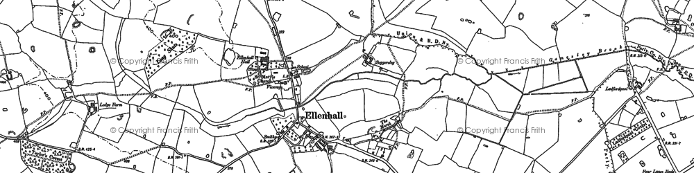 Old map of Wootton in 1880