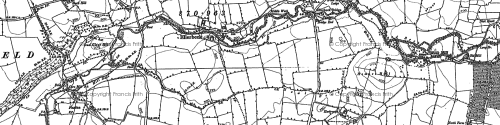 Old map of Lane End in 1892