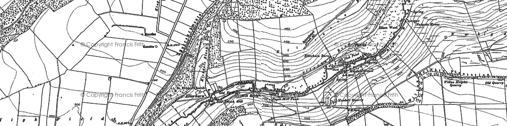 Old map of Wilton Heights Plantn in 1890