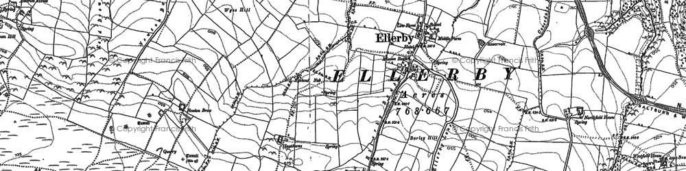 Old map of Ellerby in 1913