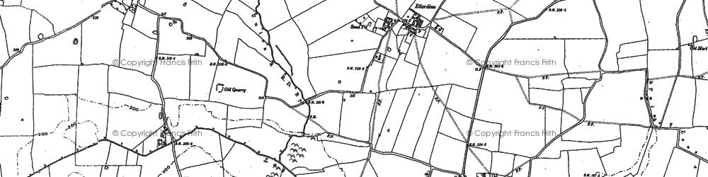 Old map of Windy Oak in 1880
