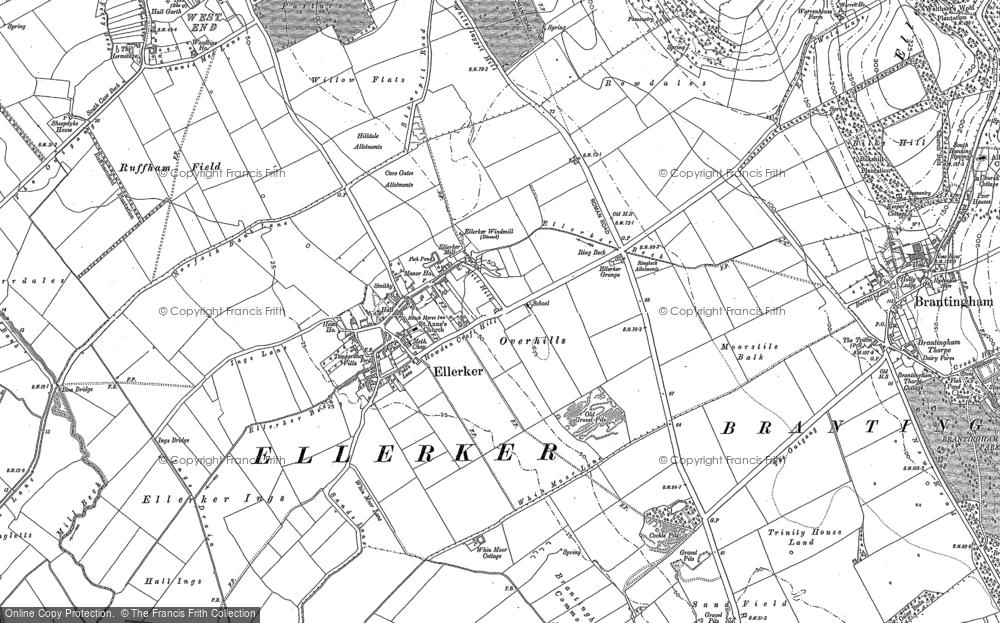Old Map of Ellerker, 1888 in 1888