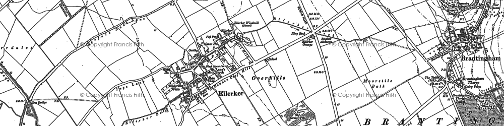 Old map of Westlands in 1888